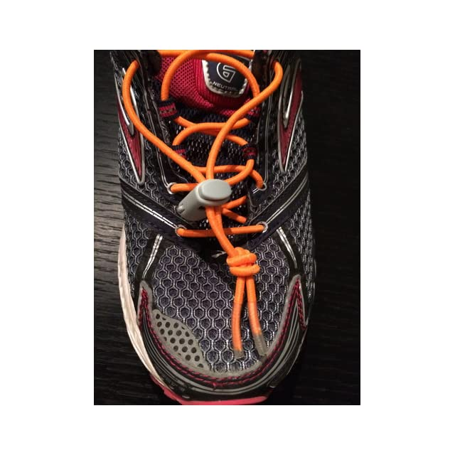 iBungee Stretch Laces (22 Inch, Black Laces with Black Race Lock)