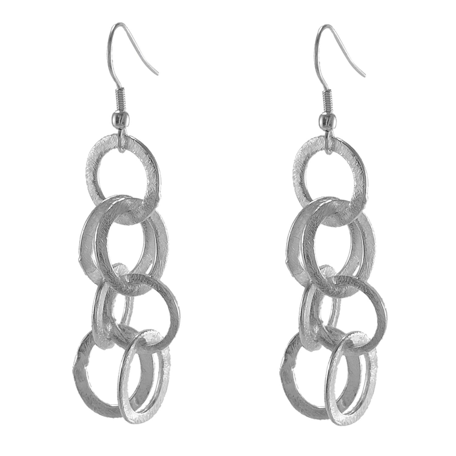 Saamarth Impex 925 Silver Plated Dangle Earring For Women /& Girls PG-126178