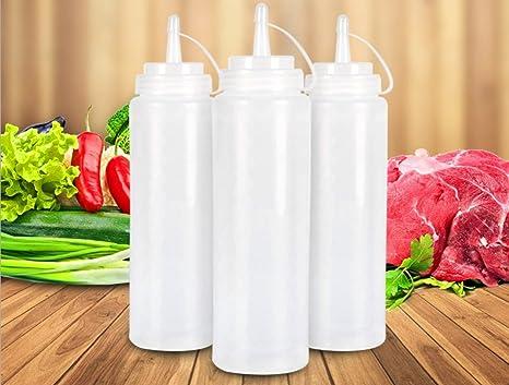 yeah67886 martillo de plástico dispensador tapa condimento aceite Ketchup Squeeze Botttle (color blanco)
