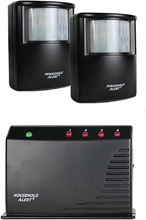 Skylink HA-300Long Range Household Alert & Alarm Deluxe Home Business Office Motion Security Indoor Outdoor Infrared Detector System Kit