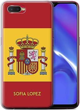 Personalizado Bandera Nacional Nación Personalizar Funda TPU/Gel para el OPPO RX17 Neo/Español/De/España Diseño/Inicial/Nombre/Texto Carcasa/Estuche/Case: Amazon.es: Electrónica