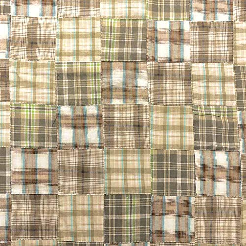 Madras Patch Fabric - Madras Plaid Patchwork Fabric (Style 1603) 100% Cotton Printed Fabric 44/45