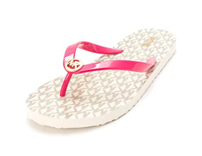 8b63553dc6cd Michael Kors Womens MK Flip Flop Shiny Open Toe Beach