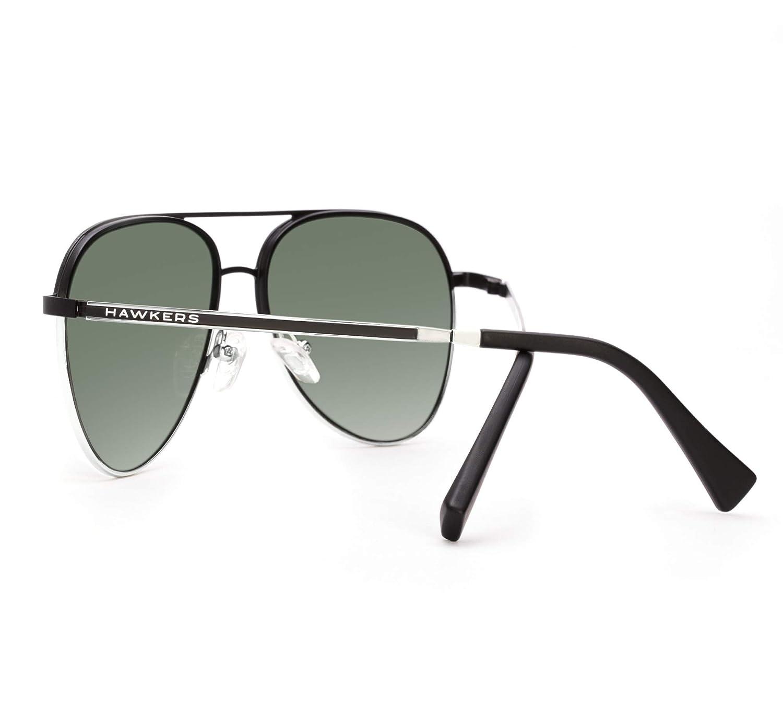 HAWKERS · LACMA · Black Silver · Green Bottle · Gafas de sol para hombre y mujer: Amazon.es: Ropa y accesorios