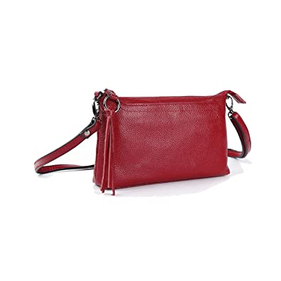 Image Unavailable. Image not available for. Color  Cowhide Genuine Leather  Women Messenger Bags Tassel Crossbody Bag Female Fashion Shoulder ... 65539099aa5ee
