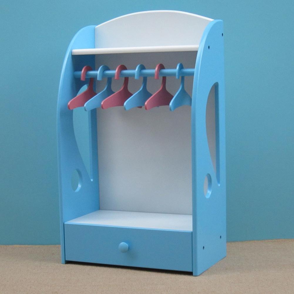 WWZY Dog wardrobe Pet supplies clothes storage box wardrobe hanger High 72cm wide and 42cm deep 24cm , blue