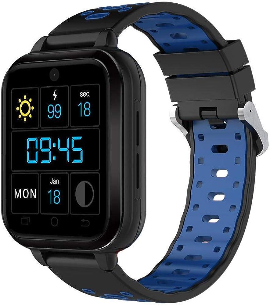 FINOW Q1 Pro Phone Call Waterproof Smart Watch Black+Blue: Amazon ...