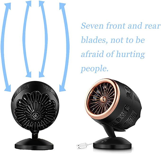 Younthone Portátil Creative Desktop Turbine Intelligence Fan USB Carga Doble Aire Acondicionado portátil Enfriador de Aire Cooler y Ventilador batería portátil: Amazon.es: Hogar