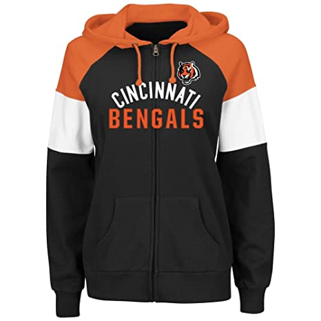 Amazon.com   Cincinnati Bengals Women s Majestic Hot Route Full Zip ... 63a4d49d9f