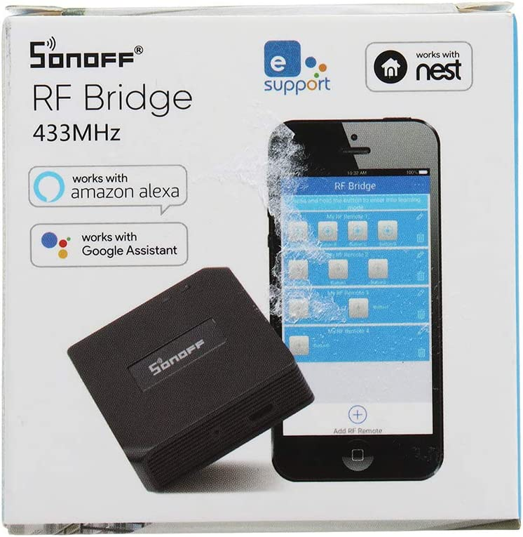 Sonoff RF Bridge 433-MHz Interrupteur sans fil Wi-Fi T/él/écommande dapprentissage automatique T/él/écommande universelle