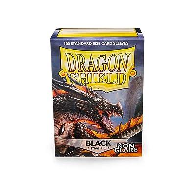 Arcane Tinmen Sleeves: Dragon Shield Matte Black NonGlare (100) (AT-11802): Toys & Games