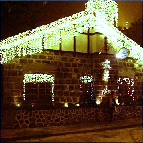 Angelbubbles 300led Window Curtain Icicle Lights String Fairy Light Wedding Party Home Garden ...