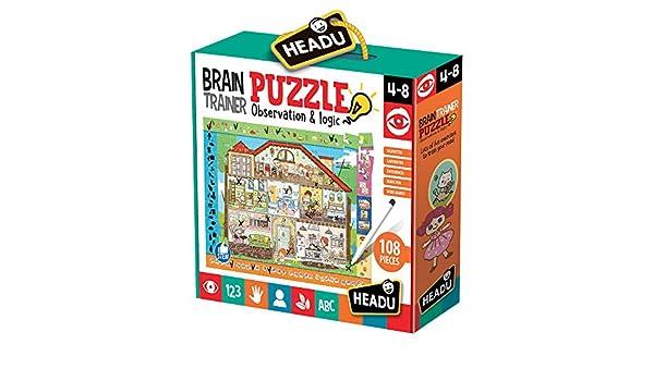 Headu- Brain-Trainer Puzzle, Juego Infant, Multicolor (IT21154) , color, modelo surtido: Amazon.es: Juguetes y juegos