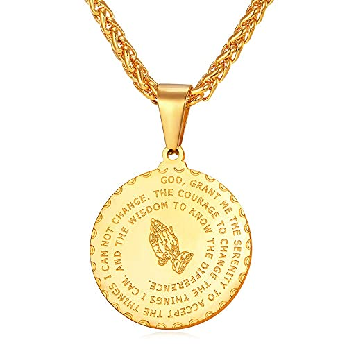 amazon com u7 18k gold plated bible verse prayer necklace with 22