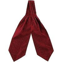 Homyl Men's Chic Gentleman Style Polka Dot Polyester Silk Cravat Ascot Necktie