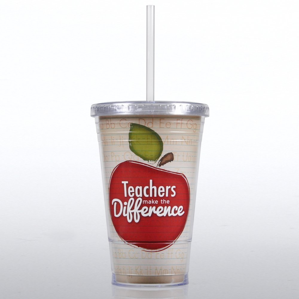 teacher appreciation week make a difference tumbler cup