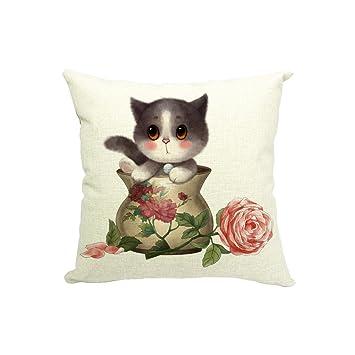 Amazon.com: yoler Funda de almohada Sofá decorativo Cojín ...