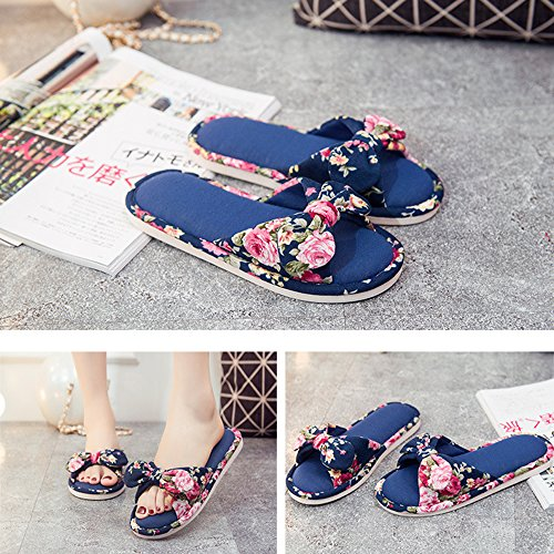 Navy Beautiful b Unisex Comfort Four Slippers Cute Season Bedroom Indoor Slipper Soft Sole xsby S0OWf06