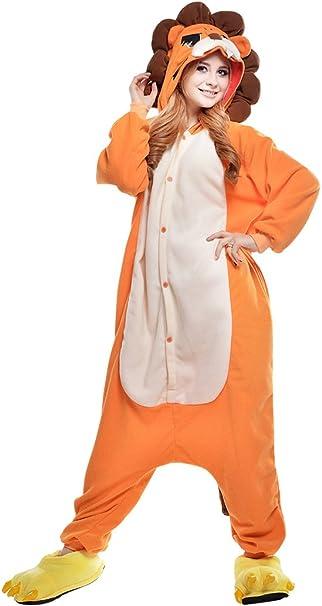 dressfan Unisex Adulto Animal Pijamas León Cosplay Traje Animal ...