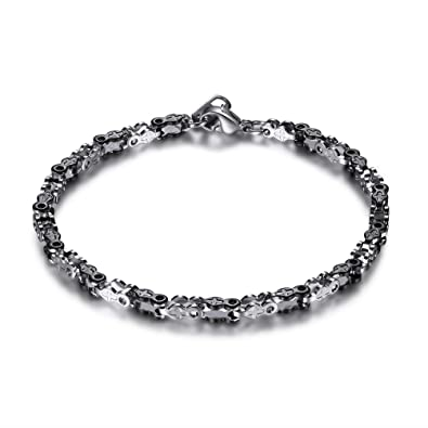 Amazon.com: prosteel acero inoxidable bicicleta pulsera ...