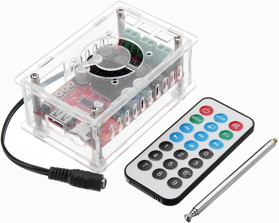 BouBou DC 12V A 24V Multifuncional Tablero Amplificador Bluetooth Digital Unidad Flash USB Tarjeta TF Decodificación De Mp3 Radio FM con Control Remoto Y Tarjeta De Sonido USB