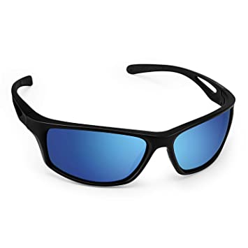 CHEREEKI Gafas De Sol, Polarizadas Deportivas Gafas De Sol con Proteccion UV400 & TR90 Súper Ligero Marco Gafas para La Pesca, el Golf, el Ciclismo
