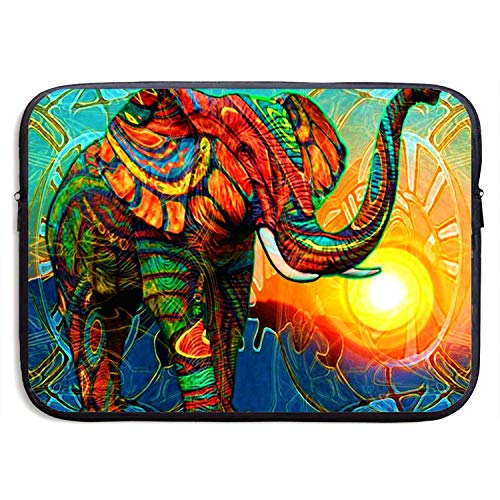 15 Inch Laptop Sleeve Briefcase,Colorful Elephant Oil Painting Neoprene Waterproof Handbag for Surface Laptop MacBook Pro/MacBook Air/Acer/Asus/Dell/Lenovo/iPad/Surface Book