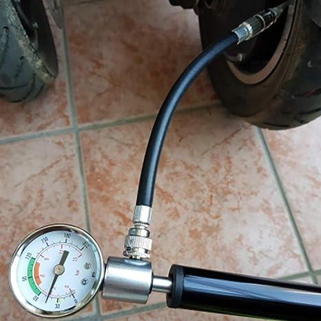 Konesky Bomba de Neumático de Patinete, Bomba de Alta Presión Inflador Portátil de Neumáticos Válvula de Aguja de Bola Incluida con Manómetro para Xiaomi Mijia M365 / Pro, Cecotec Patinete: Amazon.es: Deportes