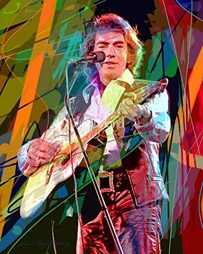 Art Print POSTER Neil Diamond Sings in Concert