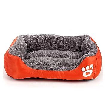 CHENYAJUAN Cachorro Cama Y Sofá Camas para Perros Naranja para Calentar La Cama Pet Dog Kennel para Perros Grandes Cat Cama Casa Artículos para Mascotas,XL: ...