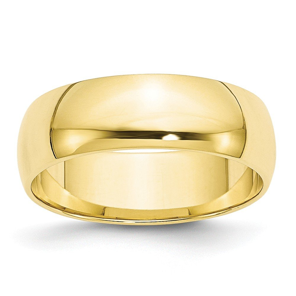 10k Yellow Gold 6mm LTW Half Round Band Size 11 by Diamond2deal
