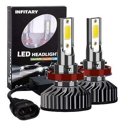 INFITARY H11/H8/H9 LED Headlight Bulbs H4/9003/HB2 Hi/Lo Conversion Kit High Low Beam Plug&Play Car Motorcycle Vehicle COB Headlamp Fog Light 8000LM 6500K Cool White Replacement LED Headlight Bulbs: Automotive