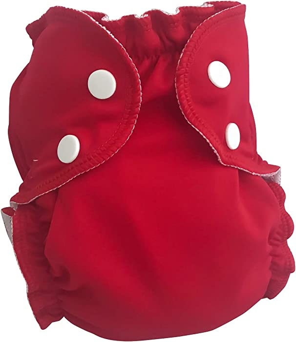 AppleCheeks Washable Swim Diaper (Size 1, Red Red Whine)