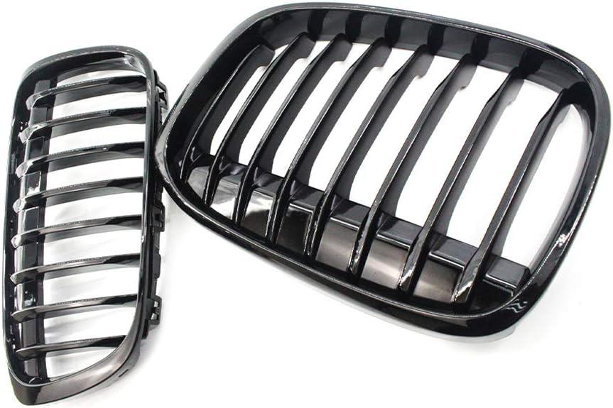 Gengcan Grille de Calandre Avant pour BMW X1 F48 F49 2016-2018 Remplacement de Calandre 1 Pair Noir Brillant