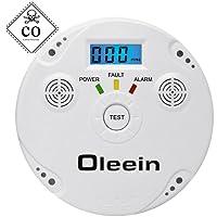 Oleein CO Melder Kohlenmonoxid CO-Detektor Batteriebetrieben Sensor und Alarm mit Digitalanzeige und Höchstwertspeicherung Kohlenmonoxid Warnmelder Haushaltsalarme