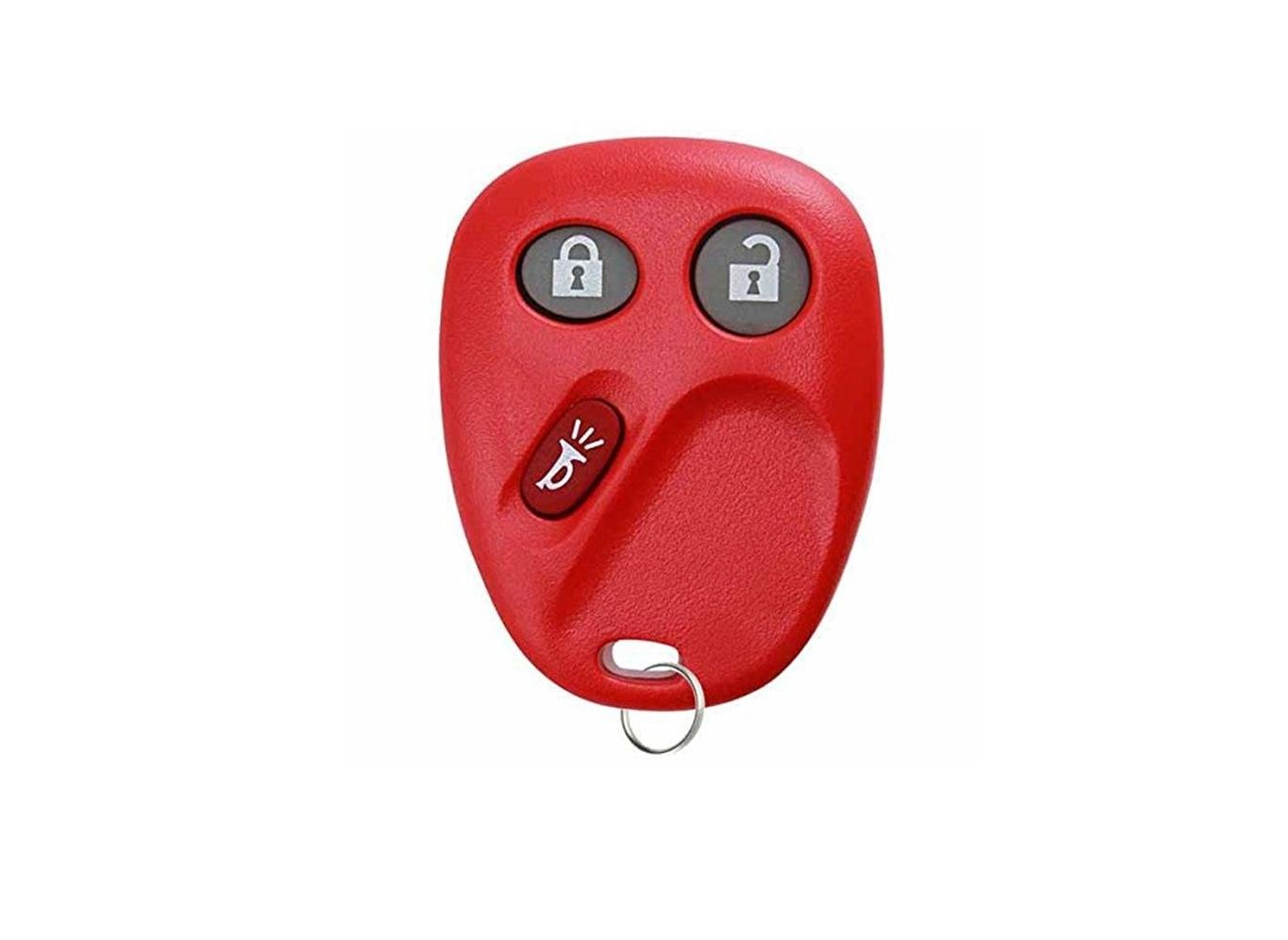 KeylessOption Keyless Entry Remote Control Car Key Fob Replacement for LHJ011 Red
