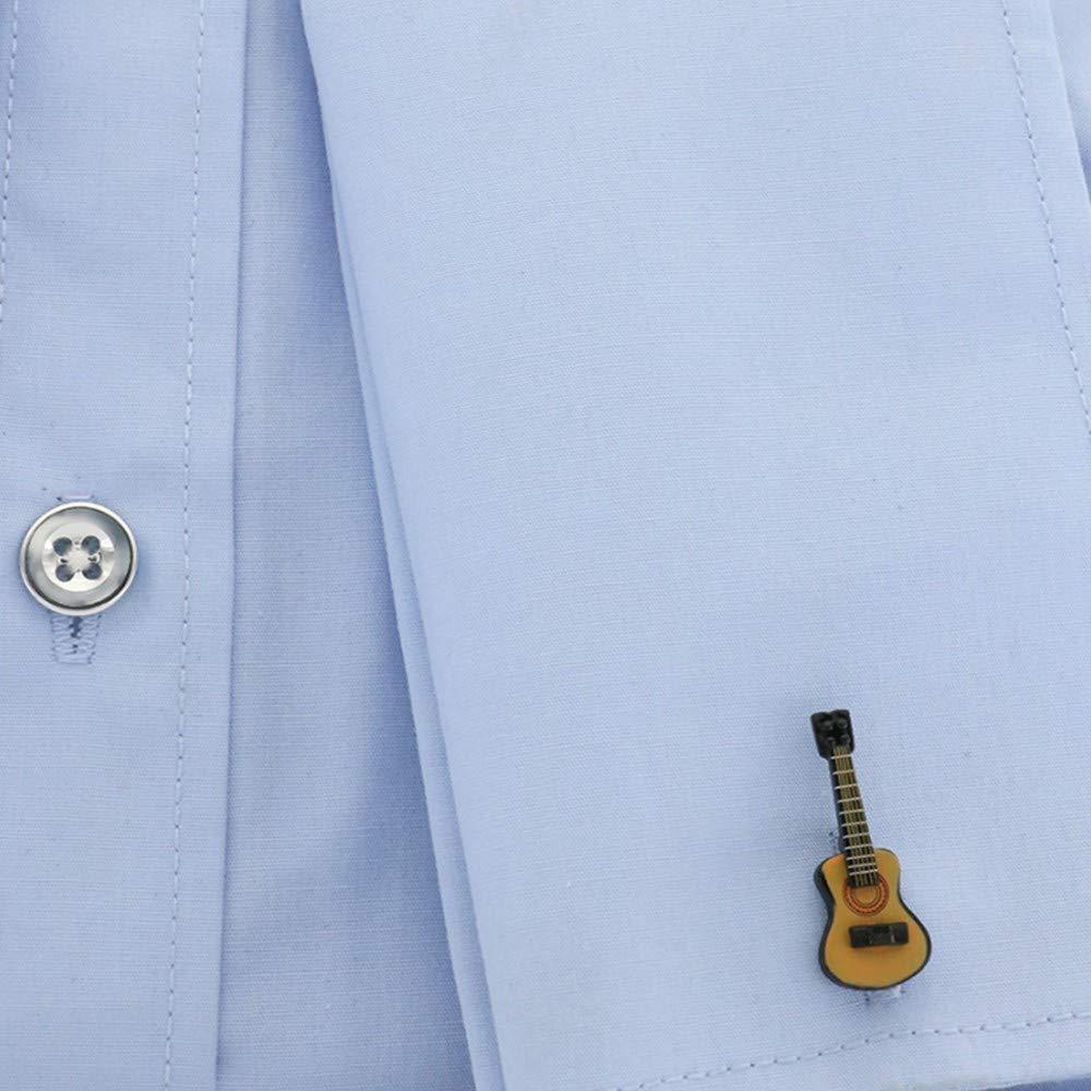Conception de caf/é Chemise Cuflinks pour Homme WYLCDGEOOChemise de Boutons de Manchette pour Guitare Bronze
