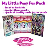 My Little Pony 4pcs Friendship Magic Bundle - 6 pack Tissues, 20 ct Bandages, 2 pk Trading Cards Tattoo & Puzzles
