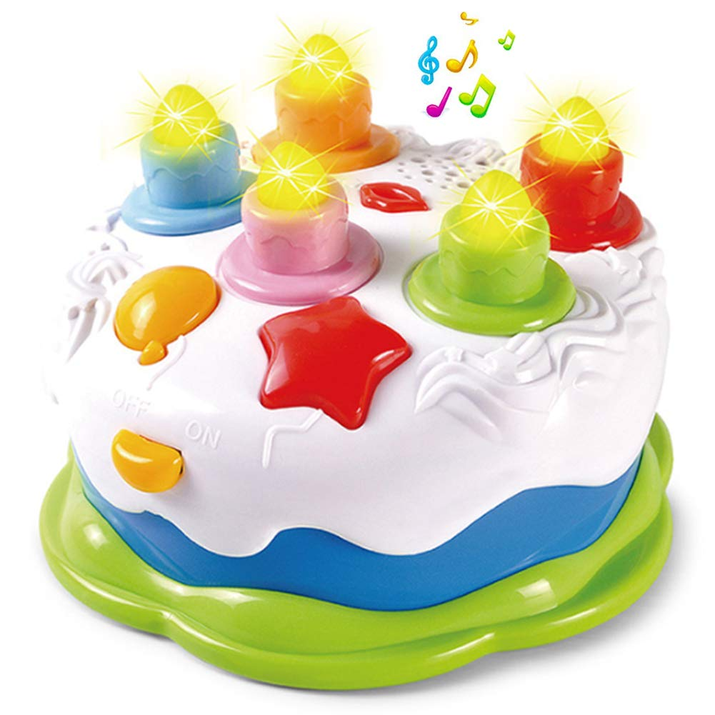 Pastel de cumpleaños para niños pequeños con velas y música ...