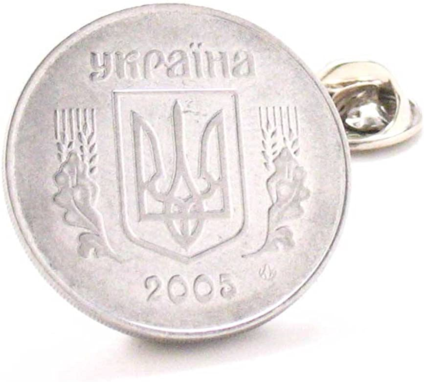 Ucrania moneda Tie Tack Pin de solapa traje bandera Europa Kiev ...