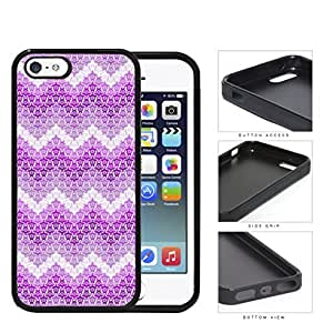 Mini Turtles In Chevron Pattern Pink Rubber Silicone TPU Cell Phone Case Apple iPhone 5 5s