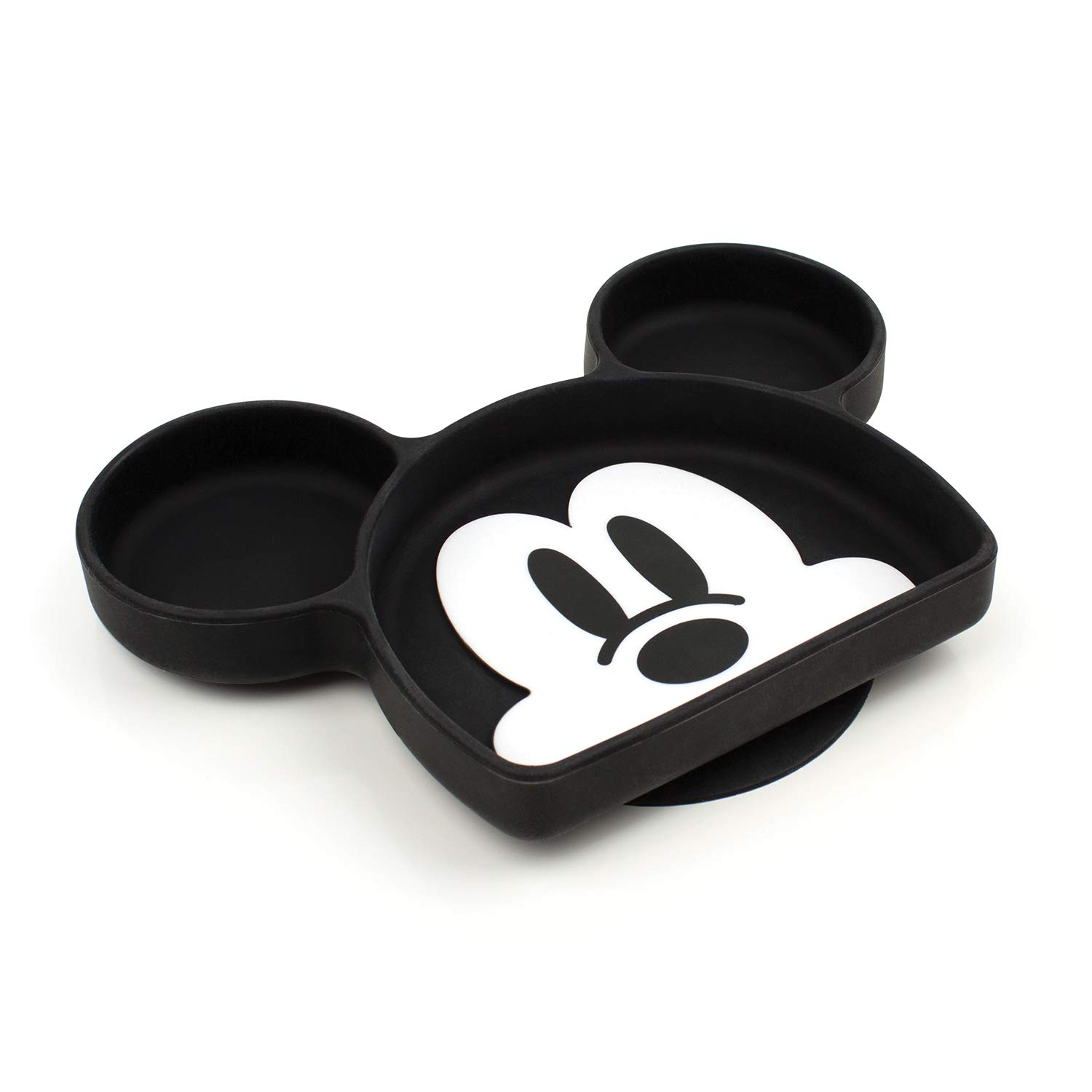Bumkins Disney Silicone Grip Dish, Suction Plate, Divided Plate, Baby Toddler Plate, BPA Free, Microwave Dishwasher Safe - Mickey Mouse
