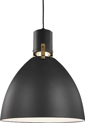 Feiss P1442MB-L1 Brynne LED Pendant Lighting, Black, 1-Light 14 Dia x 17 H