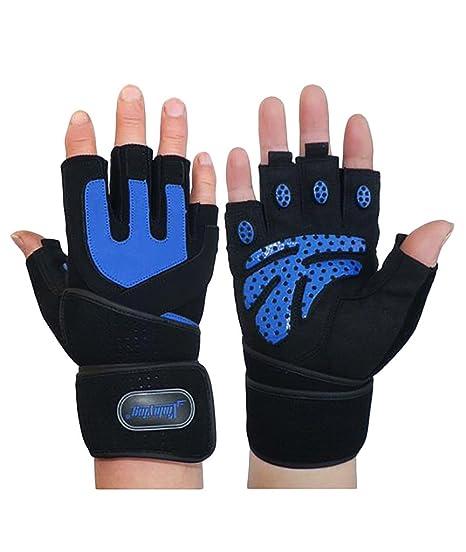 Levantamiento de pesas guantes con muñequera apoyo, iisport entrenamiento gimnasio culturismo y fitness guantes de