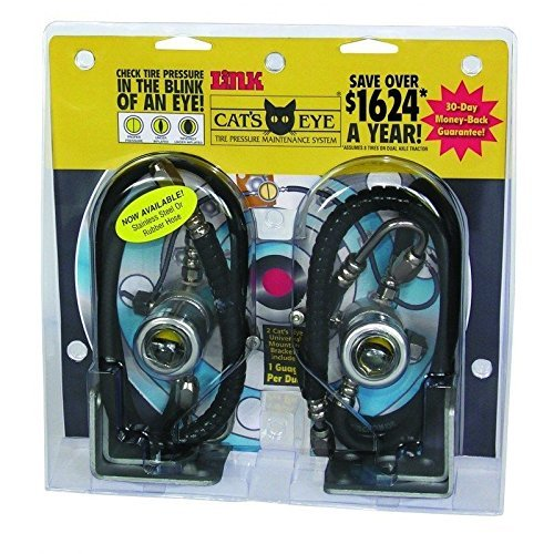 (Cat's Eye Tire Pressure Maintenance System Dual Trucks Trailer 60PSI 2pk)