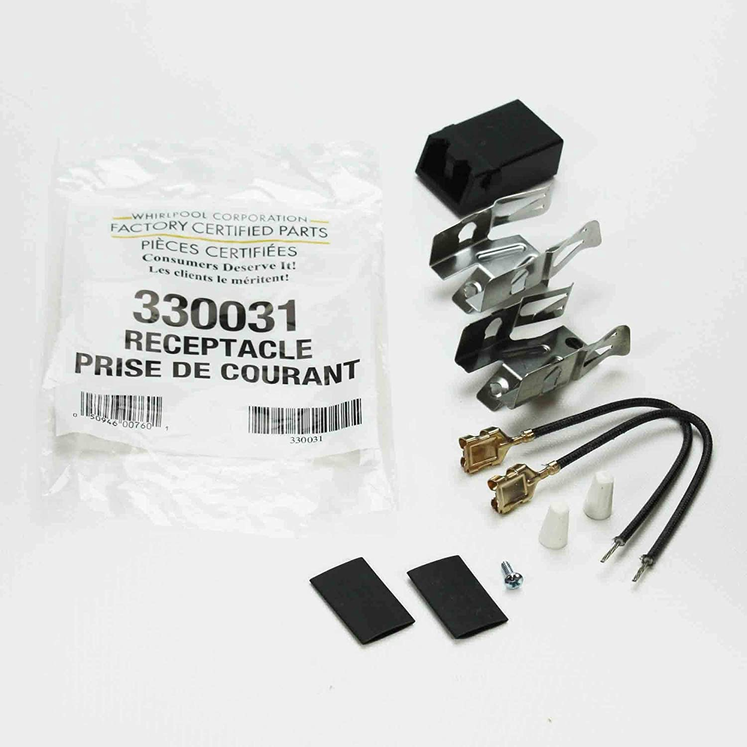 RR117 - Supco Aftermarket Replacement Stove Heating Element/Surface Burner Receptacle Kit