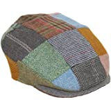 4cae42ce8cef1 Patchwork Cap Tweed Hand Sewn Donegal Town Hanna Hats Ireland, Patchwork  Bright , X-