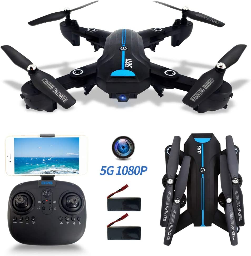 FPV Drones with Camera 1080P HD for Adults, 5G GPS Drone WiFi Live Video with 120° Wide-Angle, RC Quadcopter for Kids Beginners with GPS Follow Me, Auto Return Home, Altitude Hold, Flight Time 40 Mins