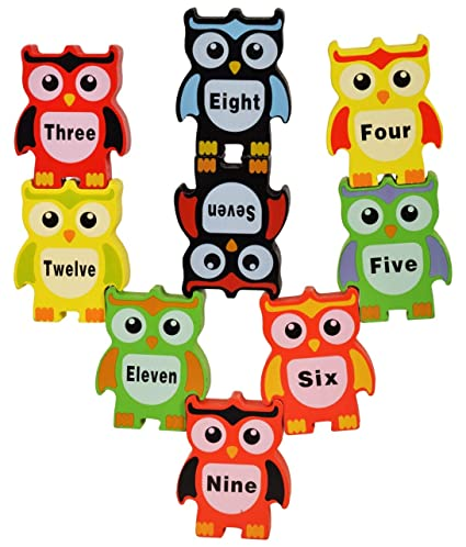 Trinkets & More - Owl Stacking Balancing Game Building Blocks | Number Math  Sorting Toys | Early Educational Toddlers 3+ Year