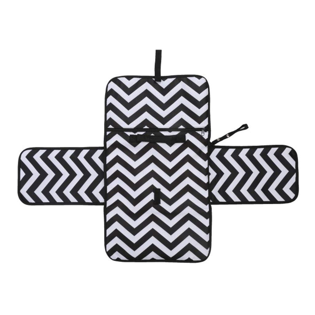 kesoto Baby Changing Mat Portable Clutch Diaper Change Pad Station as described Geometry Pattern